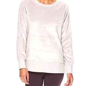 Gaiam fluffy faux fur fleece sweater L
